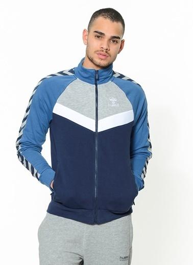 Hummel Fermuarlı  Sweatshirt Mavi